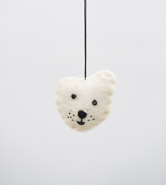 christmas decoration father rabbit hanging bear