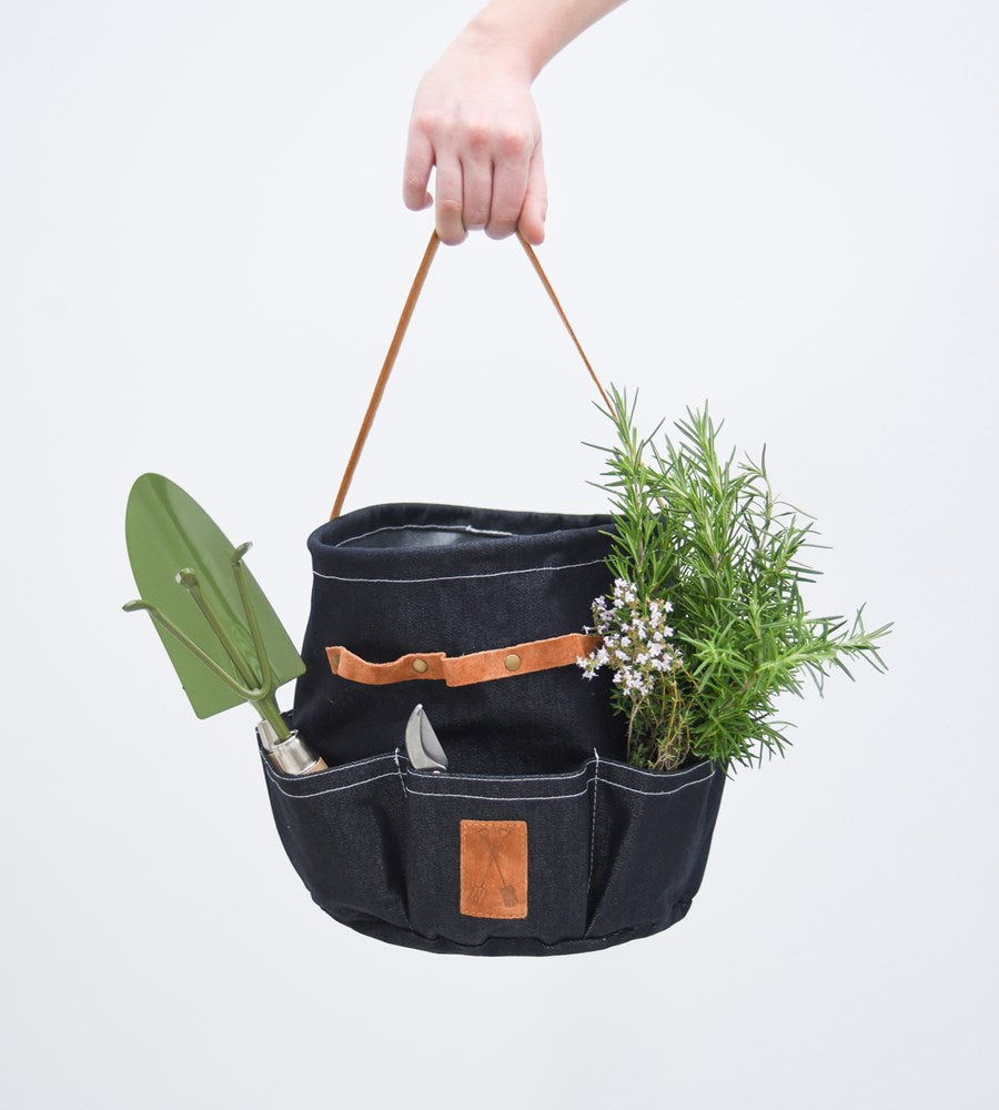 denim garden tool bag father rabbit
