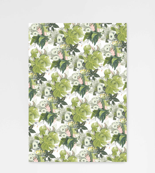 Father Rabbit Stationery Wrapping Sheet Botanical Jungle