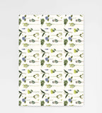 Father Rabbit Stationery | Wrapping Sheet | Flowers