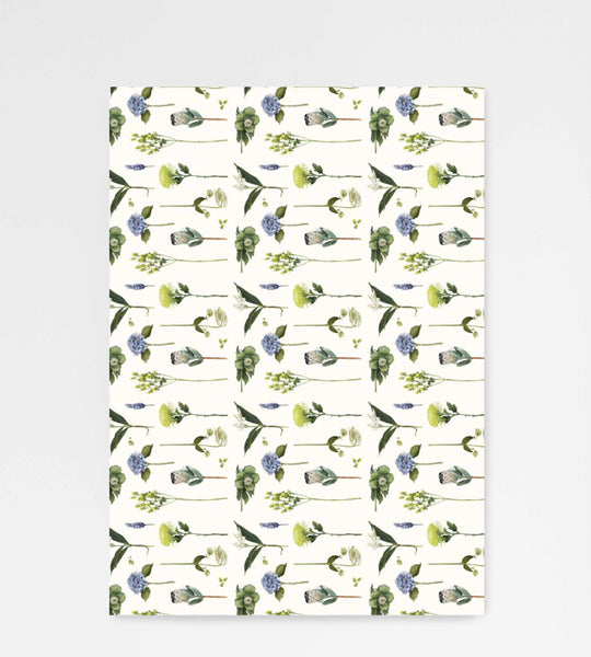 Father Rabbit Stationery Wrapping Sheet Flowers