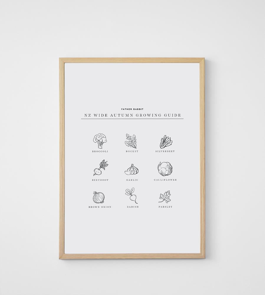 Father Rabbit | Autumn Growing Guide Print