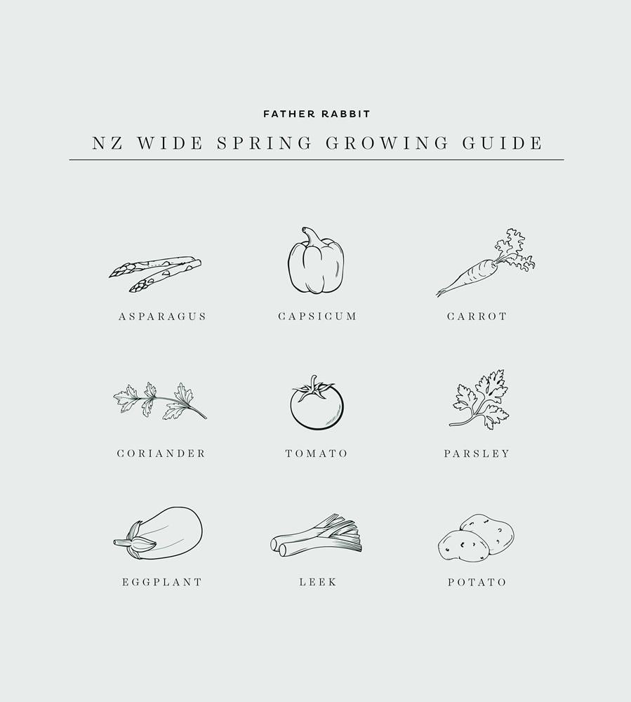 Father Rabbit | Spring Growing Guide Print