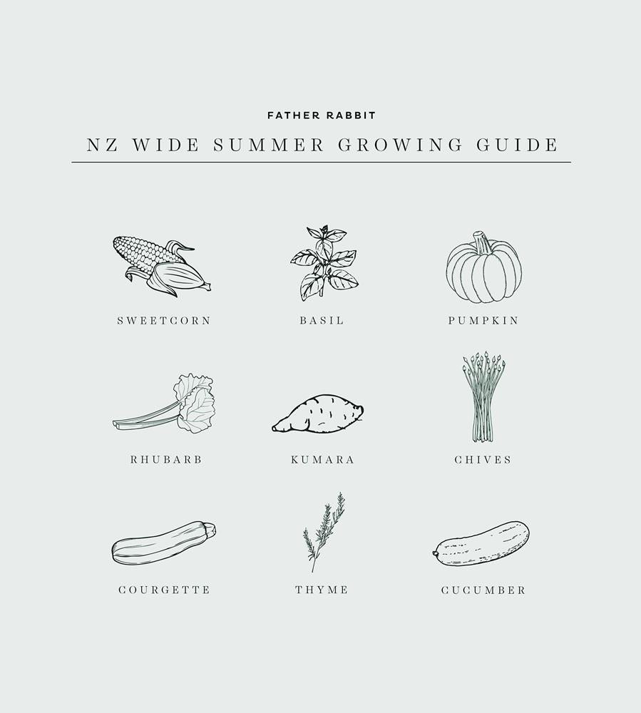 Father Rabbit | Summer Growing Guide Print