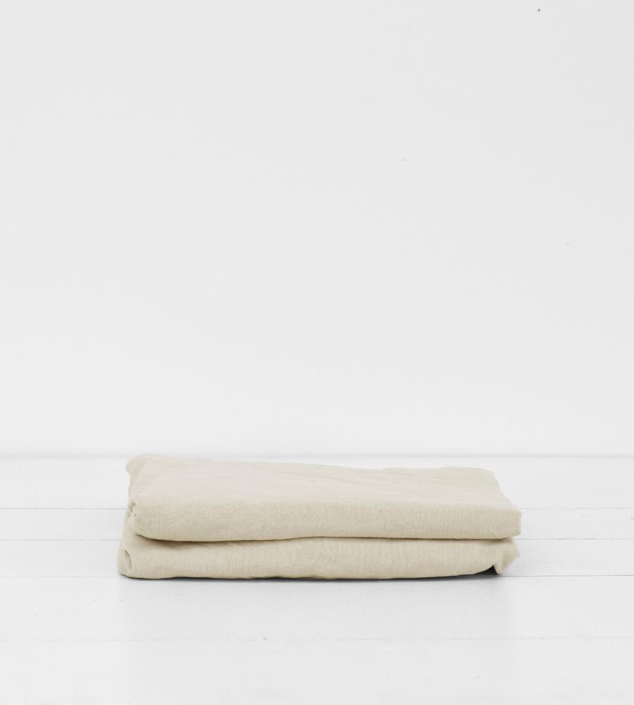 Father Rabbit | Linen Fitted Sheet | Dove Grey