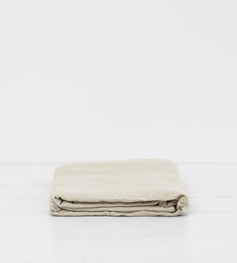 Father Rabbit | Linen Flat Sheet | Dove Grey
