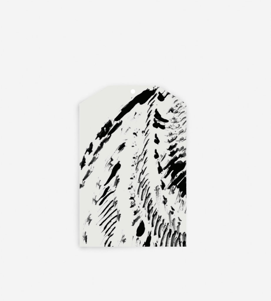 Father Rabbit Stationery Gift Tag Abstract Feather Grey