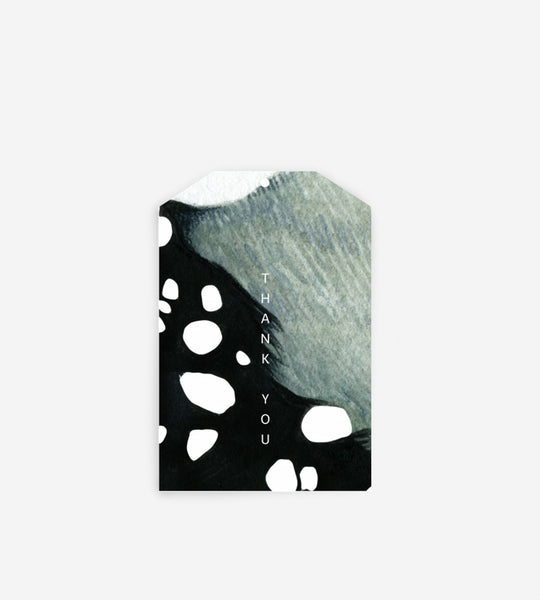 Father Rabbit Stationery Gift Tag | Abstract Thank You
