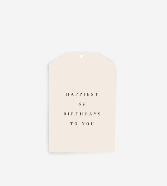 Father Rabbit Stationery Gift Tag | Happiest of Birthdays To You