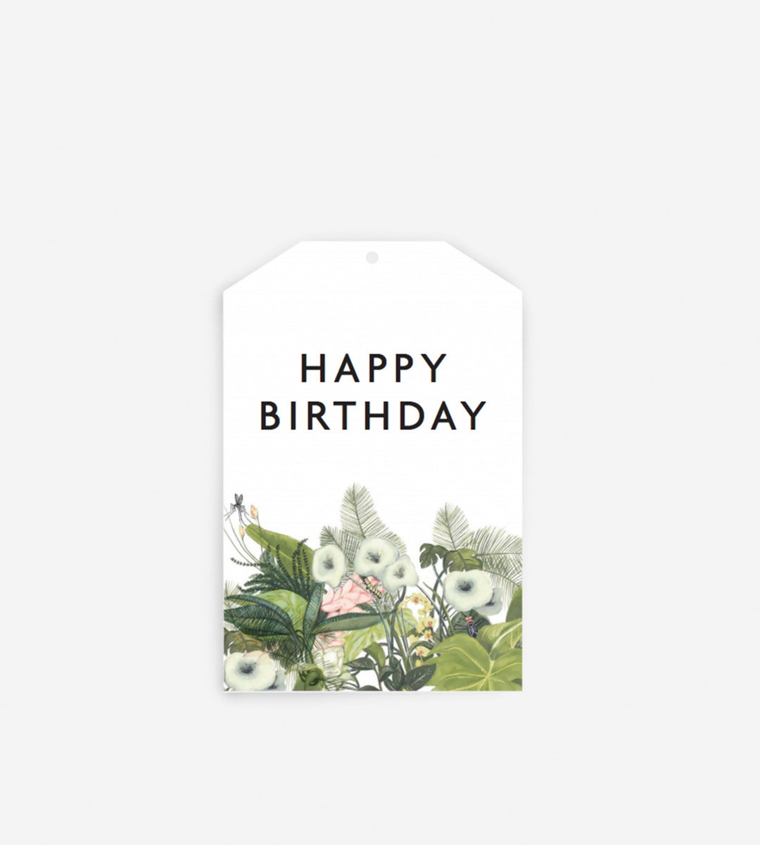 Father Rabbit Stationery Gift Tag | Happy Birthday Botanical