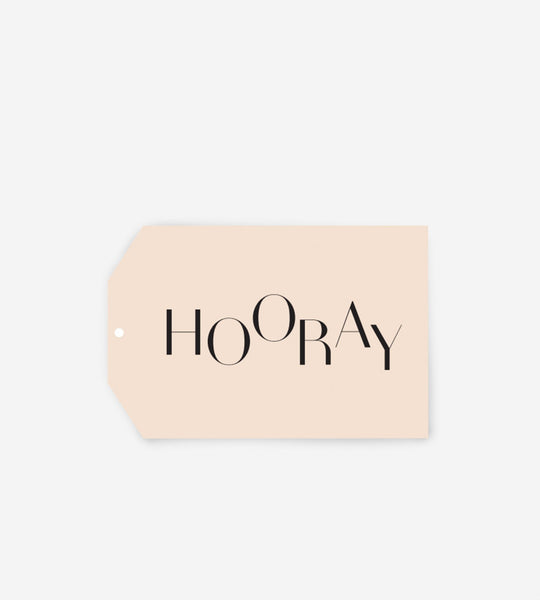 Father Rabbit Stationery Gift Tag Hooray