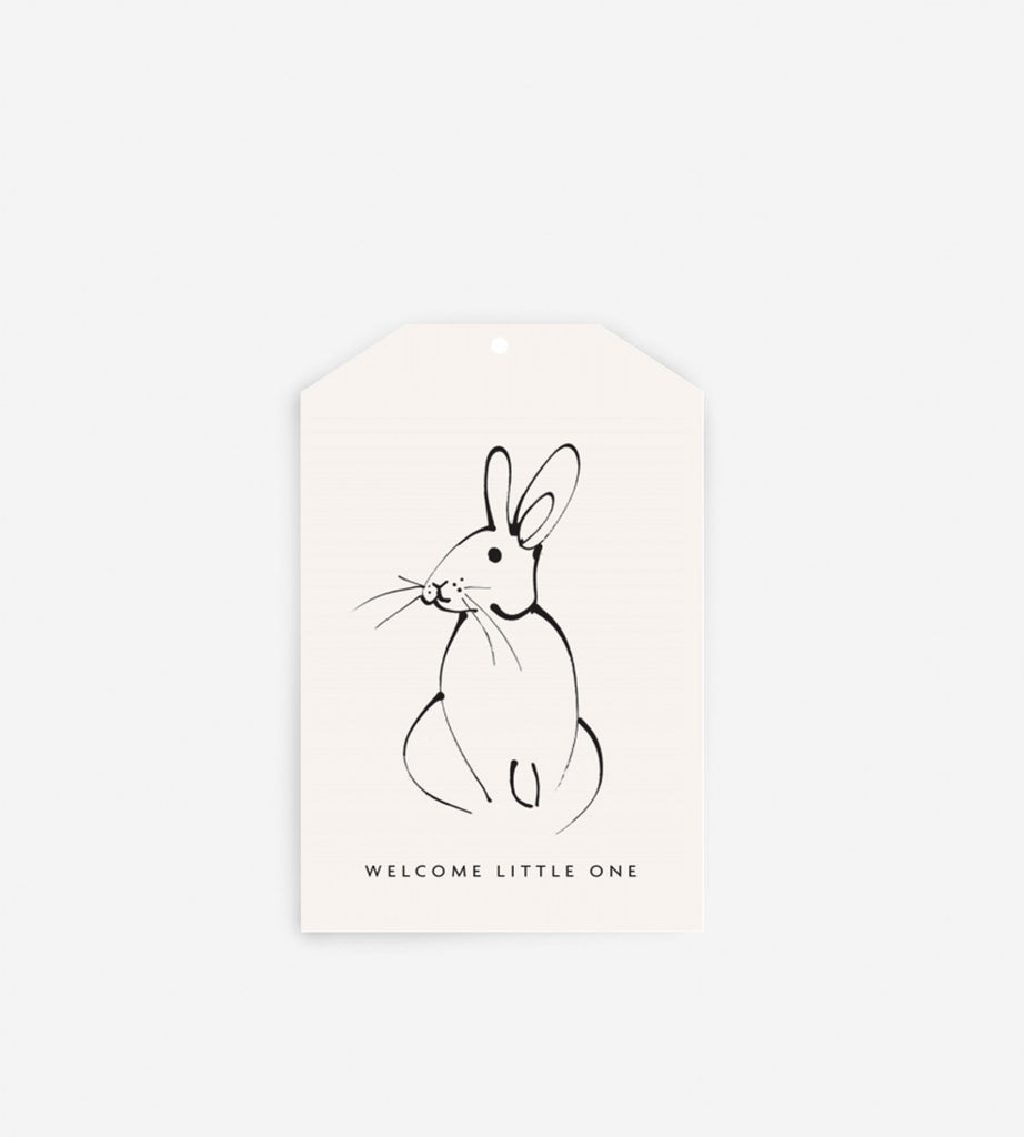 Father Rabbit Stationery Gift Tag | Welcome Little One