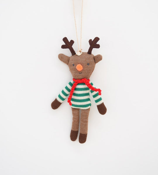 Christmas Decoration | Reindeer Knitted Ornament
