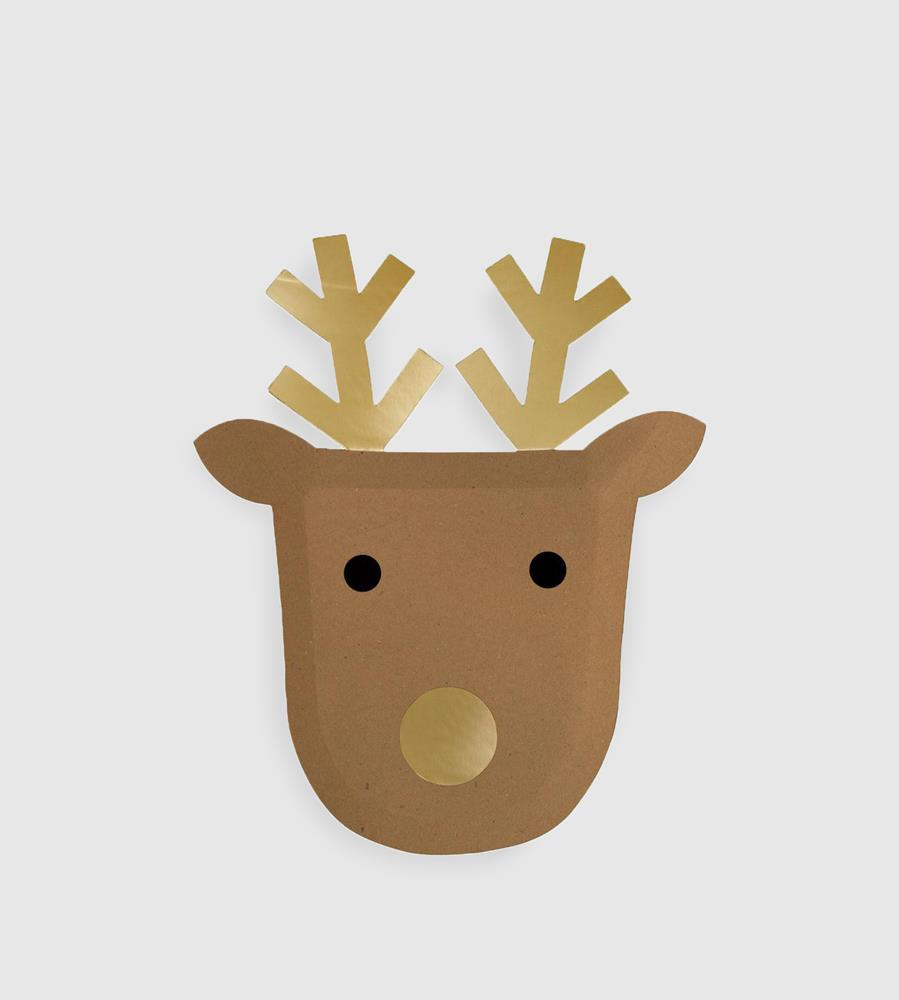 Party Paper Plates | Reindeer | Large