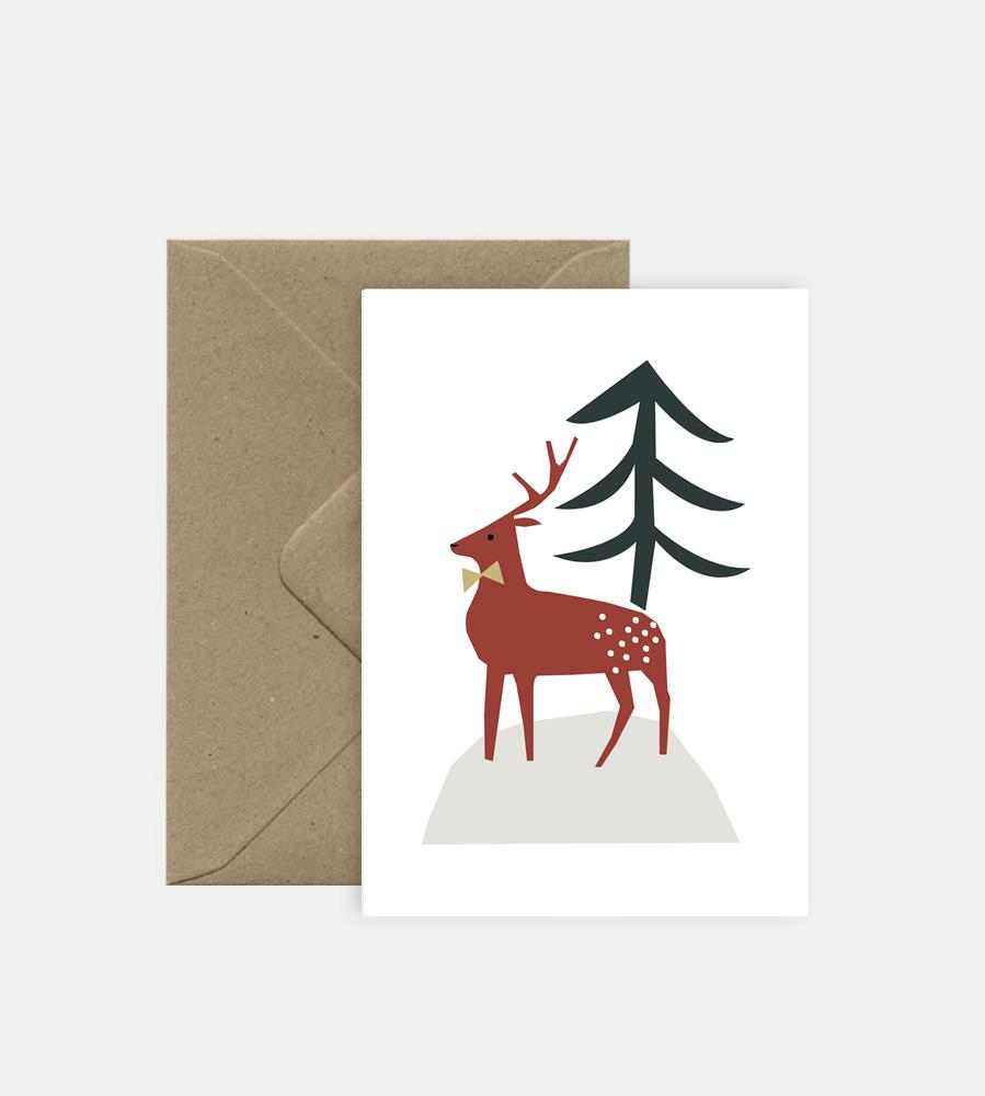Michoucas Design | Christmas Deer Card