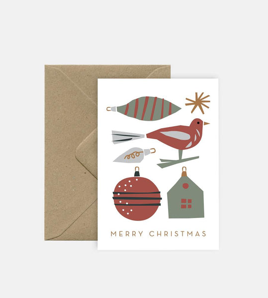 Michoucas Design | Christmas Ornaments Card