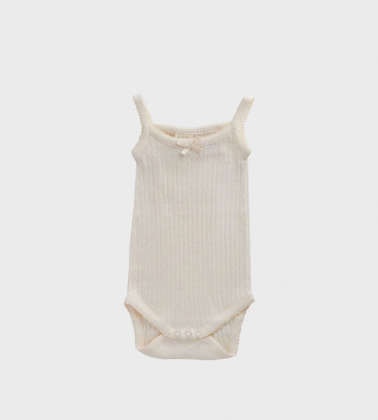 Nature Baby | Pointelle Camisole Bodysuit | Natural