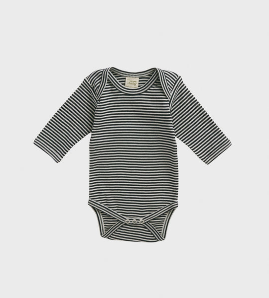 Nature Baby | Longsleeve Bodysuit | Navy Stripe