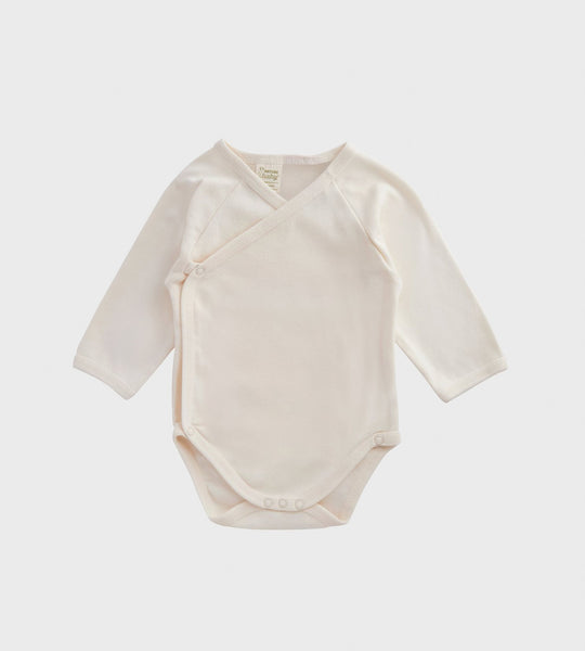 Nature Baby | Long Sleeve Kimono Bodysuit | Natural