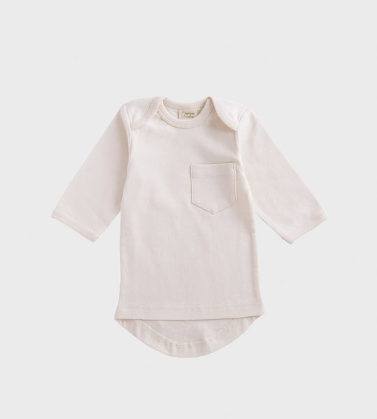 Nature Baby | Long Sleeve Pocket Tee | Natural