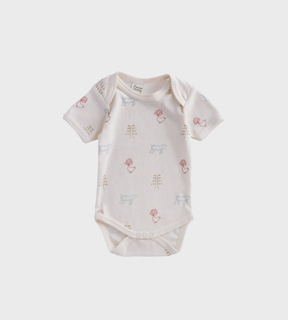Nature Baby | Short Sleeve Bodysuit | Nature Baby Print