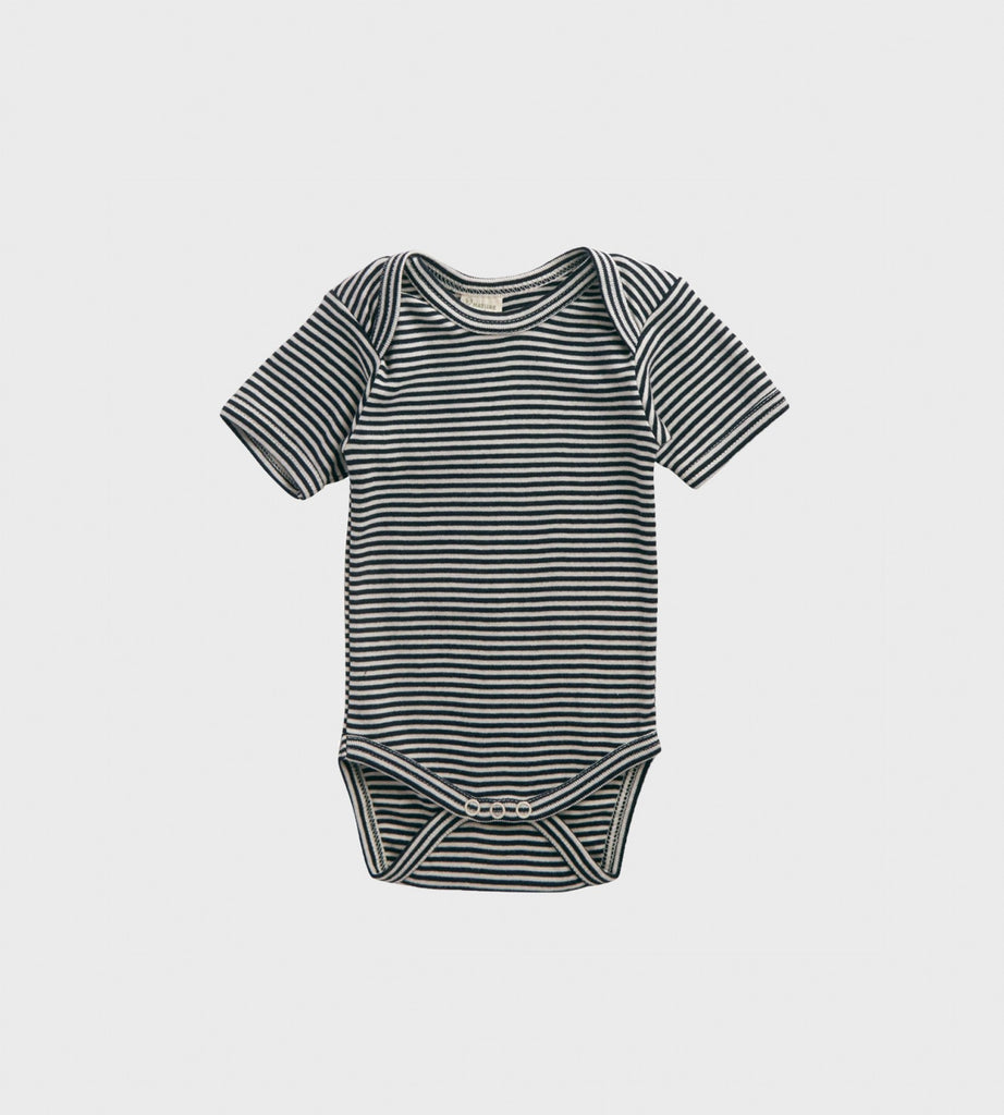 Nature Baby | Short Sleeve Bodysuit | Navy Stripe