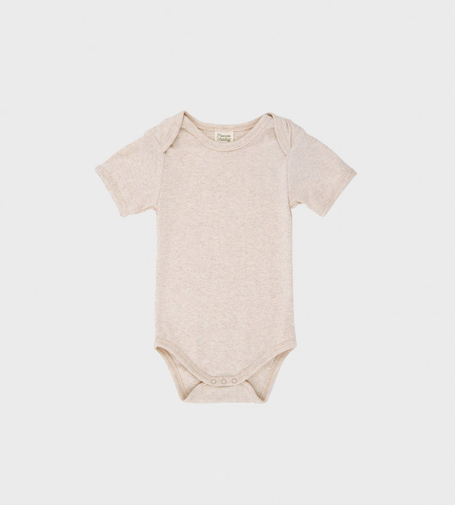 Nature Baby | Short Sleeve Bodysuit | Oatmeal Marle