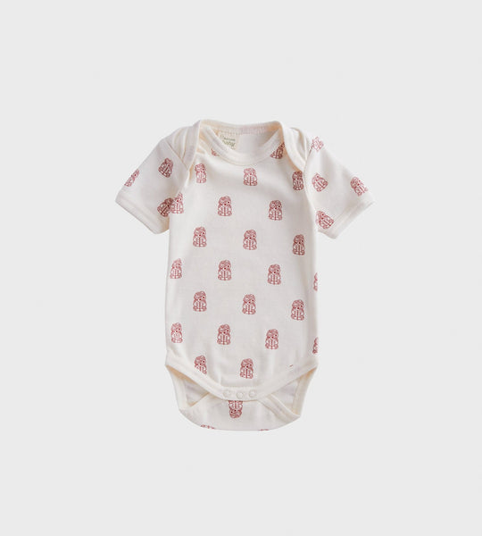 Nature Baby | Short Sleeve Bodysuit | Tiki Print