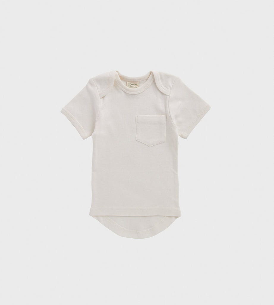Nature Baby | Short Sleeve Pocket Tee | Natural