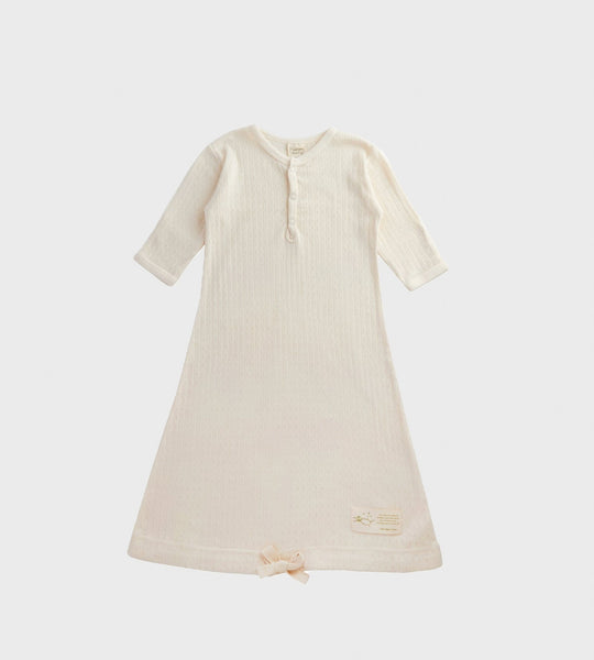 Nature Baby | Pointelle Sleeping Gown | Natural