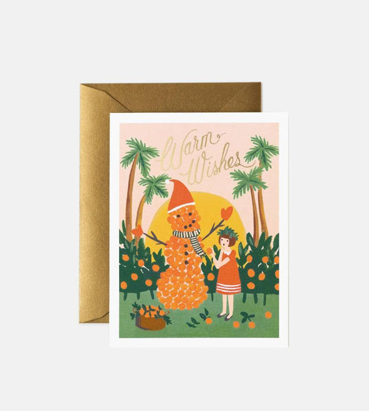 Rifle Paper Co. | Warm Wishes Snowman Card