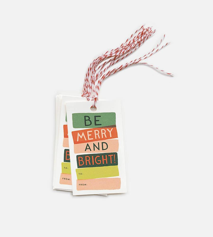 Rifle Paper Co. | Gift Tags | Be Merry & Bright | Set of 10