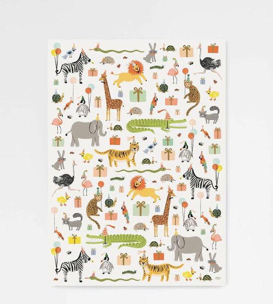 Rifle Paper Co. | Wrapping Sheet | Party Animals