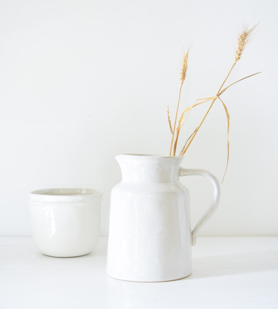 Franco Rustic White Pitcher