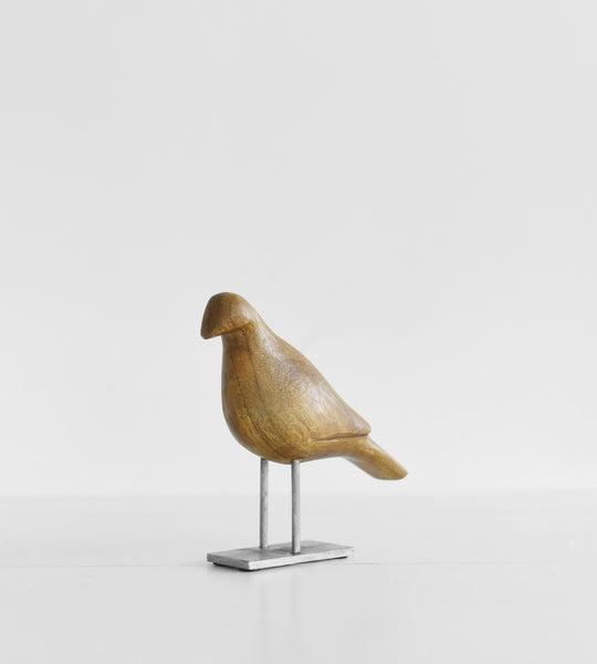 Small Wooden Bird on Stand