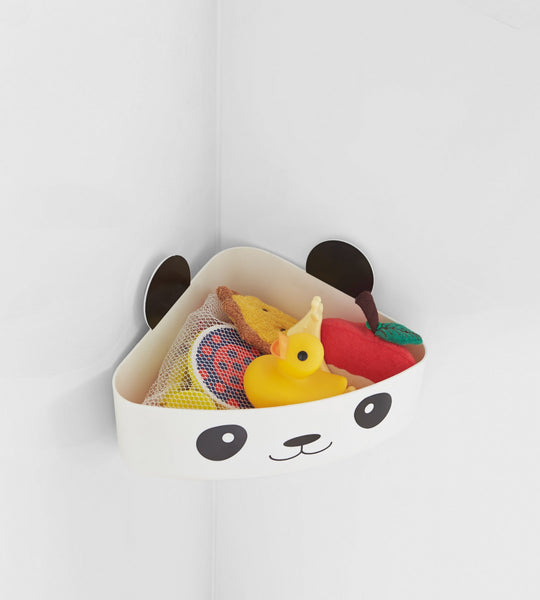 Yamazaki Home panda shaped kids bathroom toy storage