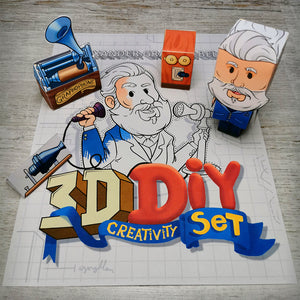 Alexander Graham Bell 3D DIY Mini set {printable}