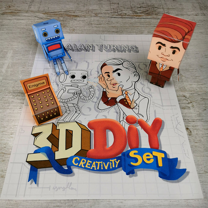 Alan Turing 3D DIY Mini set {printable}