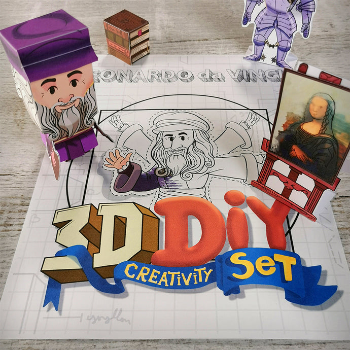 Leonardo Da Vinci 3D DIY Mini set {printable}