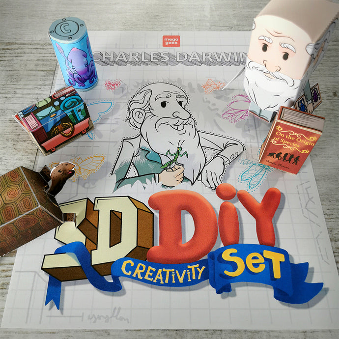 Charles Darwin 3D DIY Mini set {printable}