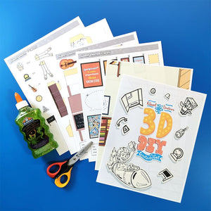 Albert Einstein 3D DIY Creativity Kit {hard copy}