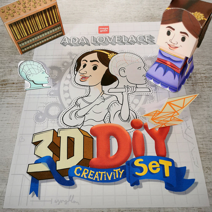 Ada Lovelace 3D DIY Mini set {printable}