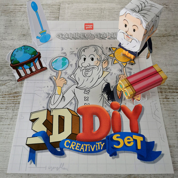 Galileo Galilei 3D DIY Mini set {printable}