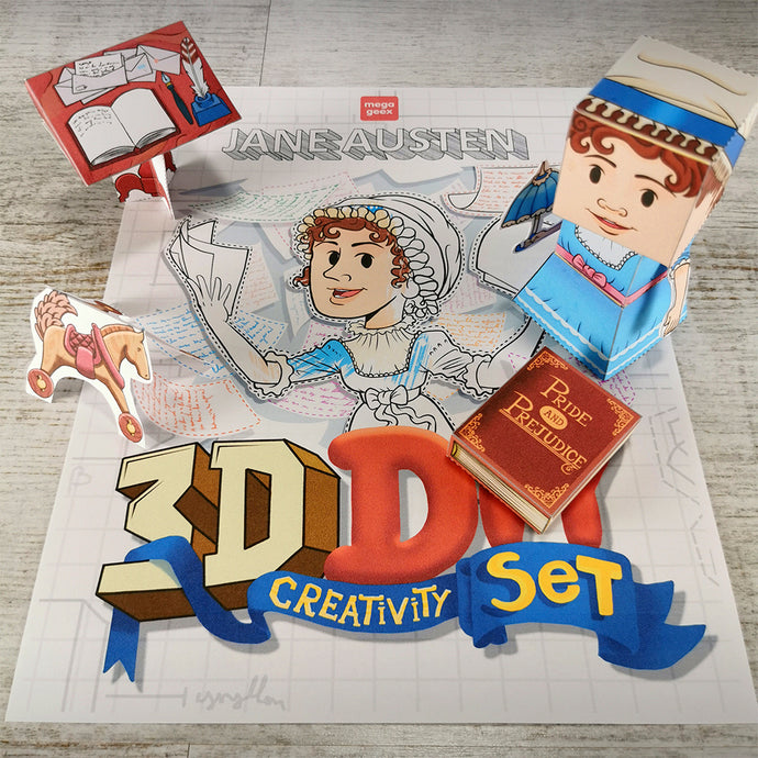 Jane Austen 3D DIY Mini set {printable}