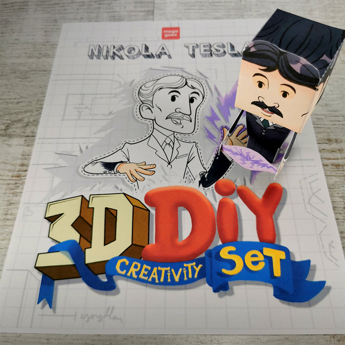 Nikola Tesla 3D DIY Action Figure {printable}