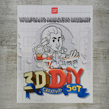 Load image into Gallery viewer, Wolfgang Amadeus Mozart 3D DIY Mini set {printable}