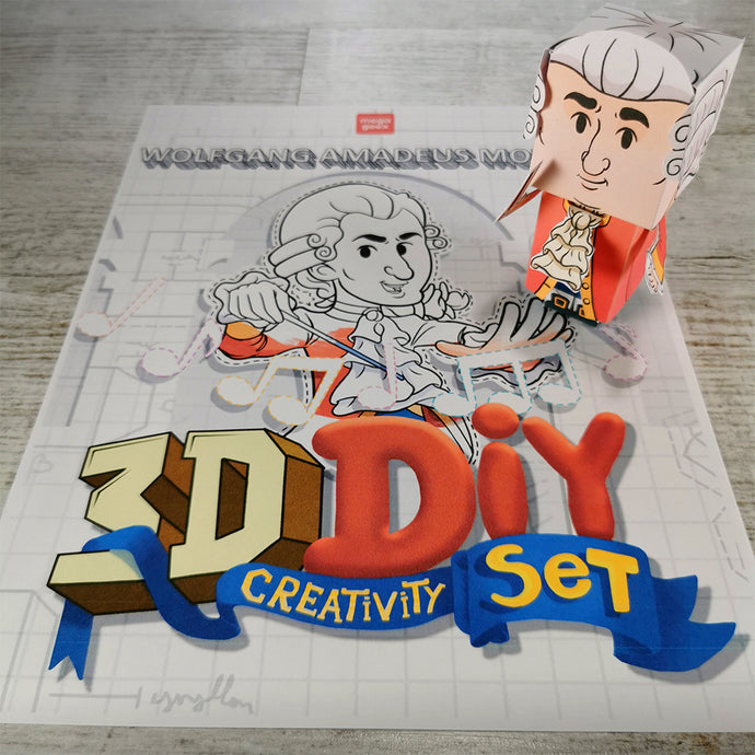 Wolfgang Amadeus Mozart 3D DIY Mini set {printable}