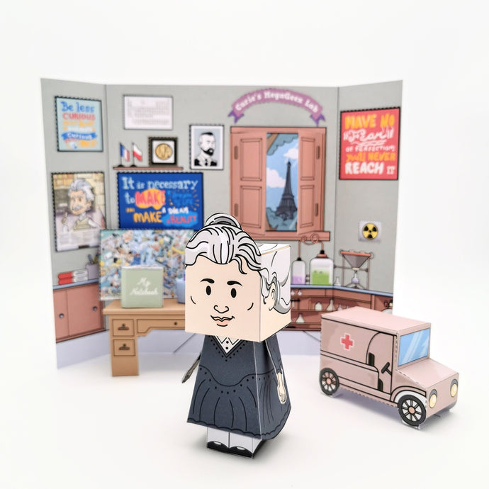 Marie Curie's 3D DIY Creativity Set {printable}