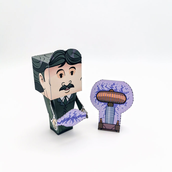 Nikola Tesla 3D DIY Action Figure