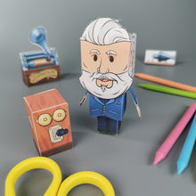 Load image into Gallery viewer, Alexander Graham Bell 3D DIY Mini set {printable}